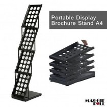 Premium Portable A4 Brochure Holder / Literature Display Stand / Catalogue black