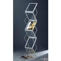 Premium Portable A4 Brochure Holder / Literature Display Stand / Catalogue Rack