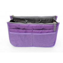Insert Handbag Internal Organizer Bag in Bag Purple