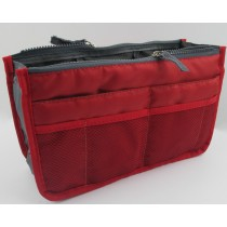 Insert Handbag Internal Organizer Bag in Bag Red