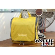 Travel Hanging Wash bag Cosmetic Makeup Toiletry pruse Organizer Large Yellow