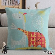 Vintage Linen Cotton Cushion Cover Home Decor Throw Pillow Case 45x45cm 080